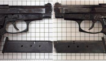 Zabezpieczona przez funkcjonariuszy broń / fot. NOSG