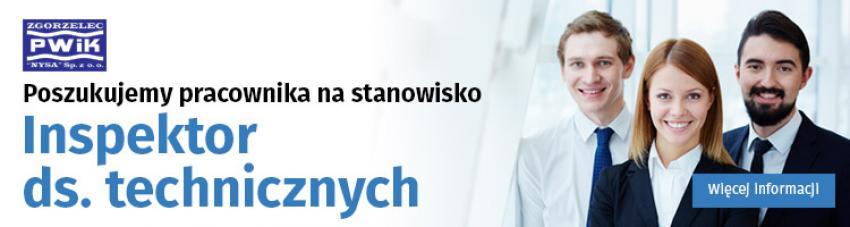 """PWiK """"Nysa"""" Zgorzelec: poszukujemy Inspektora ds. technicznych"""
