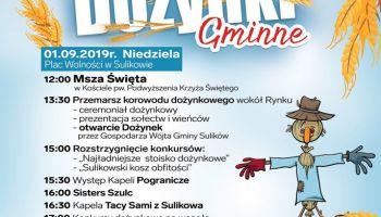 Program Dożynek Gminnych w Sulikowie 2019