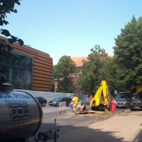 Zapadł się asfalt przy ul. Wolności w Zgorzelcu