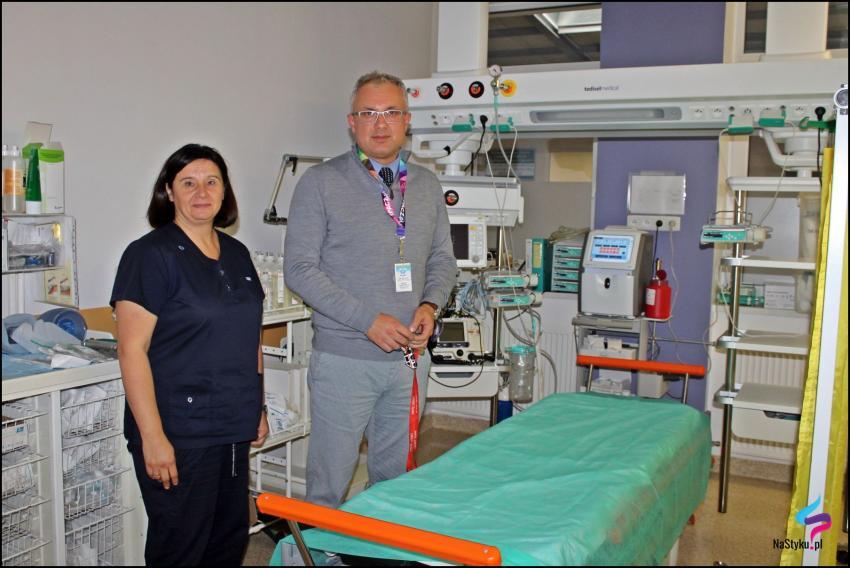 Marzena Krupa – pielęgniarka oddziałowa SOR i Maciej Leszkowicz – kierownik działu ratownictwa medycznego