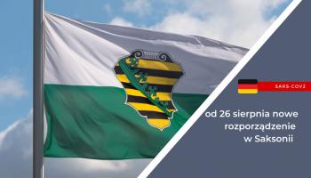 SARS-CoV-2 - nowe zasady w Saksonii