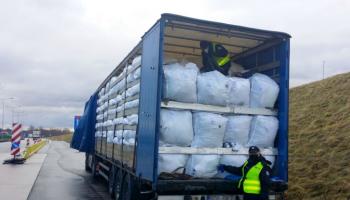Zatrzymany na A4 transport odpadów / fot. DUSC