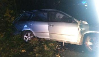 Samochód marki Mazda po wypadku / fot. KPP Zgorzelec