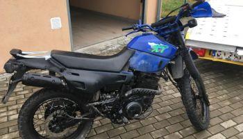 Odzyskany przez funkcjonariuszy motocykl marki Yamaha / fot. KPP Zgorzelec