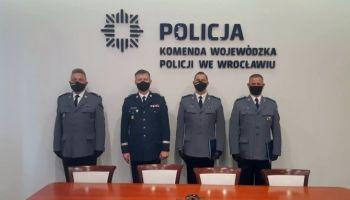 Powierzenie obowiązków na stanowiskach zastępców Komendanta Powiatowego Policji w Zgorzelcu / fot. KPP Zgorzelec