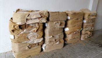 Zatrzymany przez strażników granicznych i celników susz tytoniowy / fot. NOSG