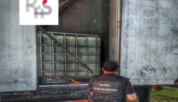 Przemyt 24 ton substancji ropopochodnej / fot. KAS