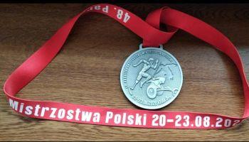 Srebrny medal Piotra Kosewicza wywalczony podczas 48. Paralekkoatletycznych Mistrzostwa Polski w Krakowie / fot. UM Zawidów