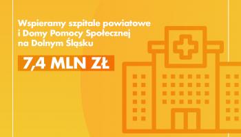 Ponad 7 milionów złotych dla szpitali powiatowych i Domów Pomocy Społecznej