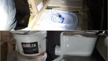 Skradzione materiały budowlane i sanitarne w samochodzie / fot. KPP Zgorzelec