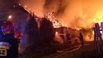Strażacy podczas akcji ratowniczo-gaśniczej / fot. KP PSP Zgorzelec