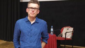 Sędzia Igor Tuleya po spotkaniu w Zgorzelcu.