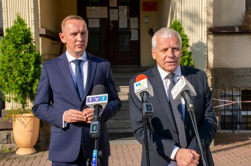 Wojciech Dobrołowicz i Jarosław Obremski / fot. UMiG Bogatynia