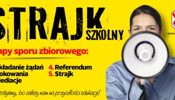 Strajk szkolny / grafika: ZNP