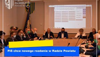 PiS chce nowego rozdania w Radzie Powiatu Zgorzeleckiego
