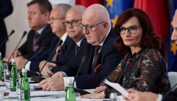 Wybory do Sejmu i Senatu 2019: konferencja Państwowej Komisji Wyborczej z 14 października / fot. PKW