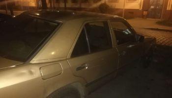Skradziony na terenie Niemiec Mercedes / fot. KPP Zgorzelec