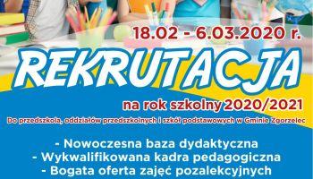 Rekrutacja 2020 do placówek oświatowych w Gminie Zgorzelec