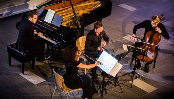 """Koncert """"Kwartet na koniec czasu"""" 15.01.2020 r. w ramach 4. Międzynarodowych Dni Messiaena Görlitz-Zgorzelec/ fot. Jakub Purej"""