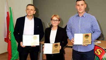 Od lewej: Dariusz Kołodziejczyk, Małgorzata Niedźwiecka i Łukasz Mesjasz / fot. Gmina Zgorzelec