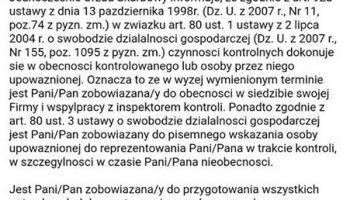 Przykład fałszywego e-maila z Urzędu Skarbowego