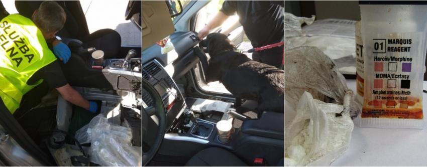 Narkotyki znajdowały się w specjalnej skrytce pod podłogą samochodu / fot. KAS