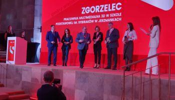"""Uroczystość wręczania nagród w konkursie """"Innowacyjny Samorząd 2020"""" / fot. Urząd Gminy Zgorzelec"""