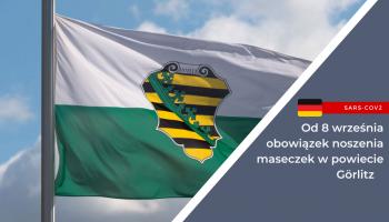 Od 8 września powraca obowiązek noszenia maseczek w powiecie Görlitz
