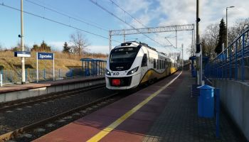Pociąg Kolei Dolnośląskich na stacji Zgorzelec Ujazd / fot. PKP Polskie Linie Kolejowe S.A.