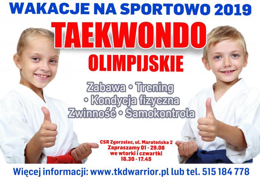 Wakacje na sportowo w Zgorzelcu. Zapisz dziecko na treningi taekwondo olimpijskiego!
