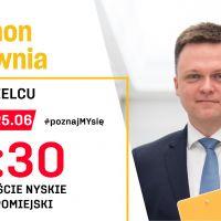 Szymon Hołownia w piątek odwiedzi Zgorzelec