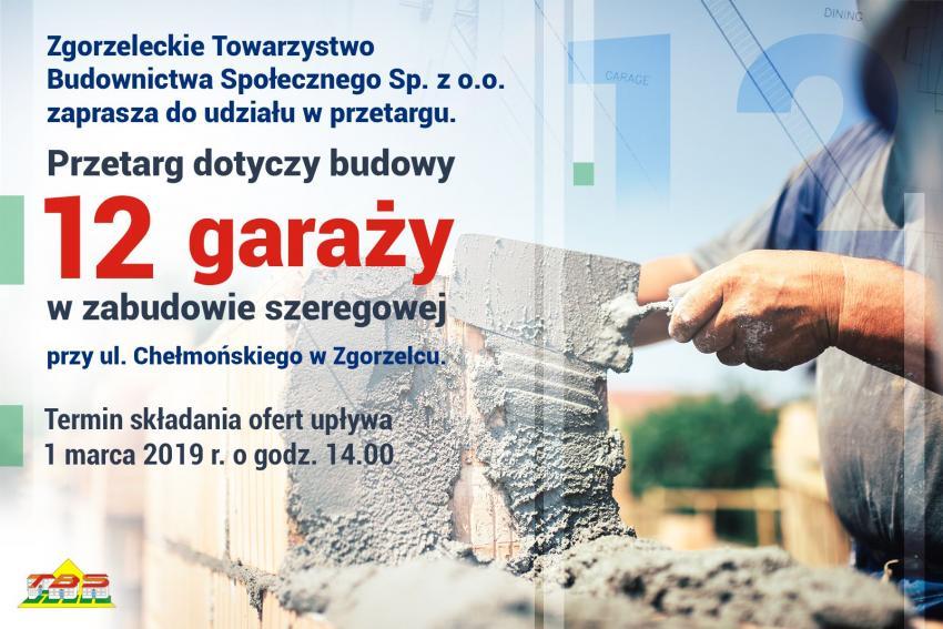 Nieograniczony przetarg na budowę garaży przy ul. Chełmońskiego w Zgorzelcu