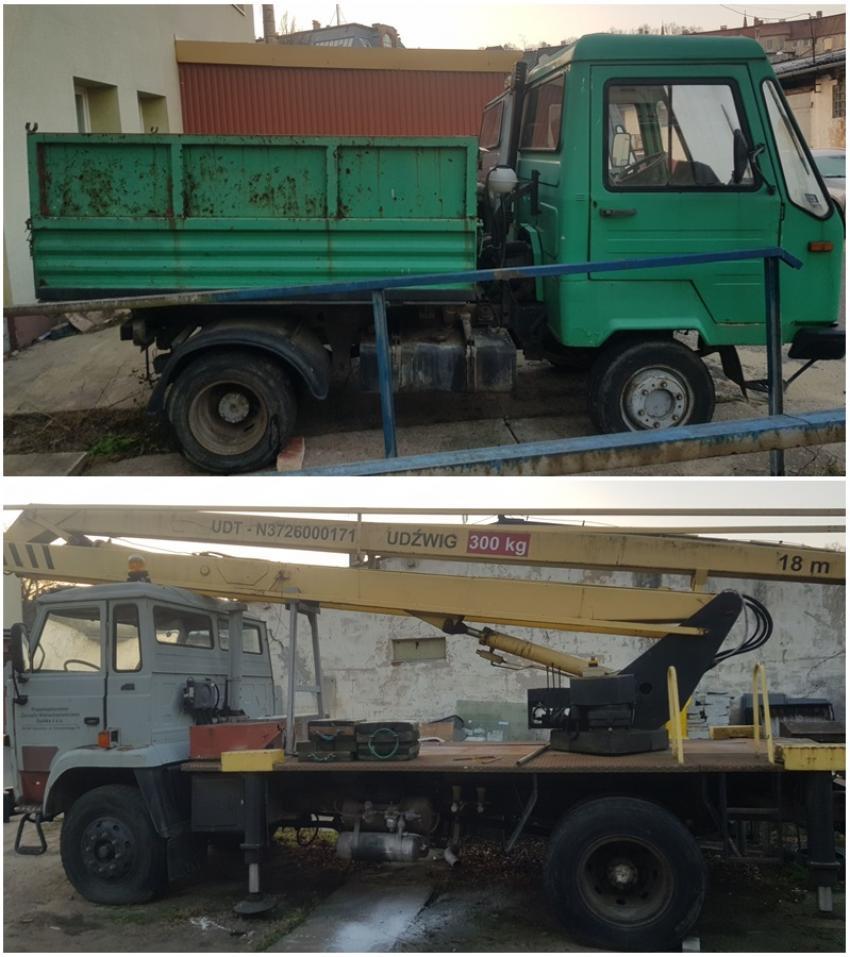 Multicar M26, wywrotka i podnośnik koszowy Star 1142 na sprzedaż
