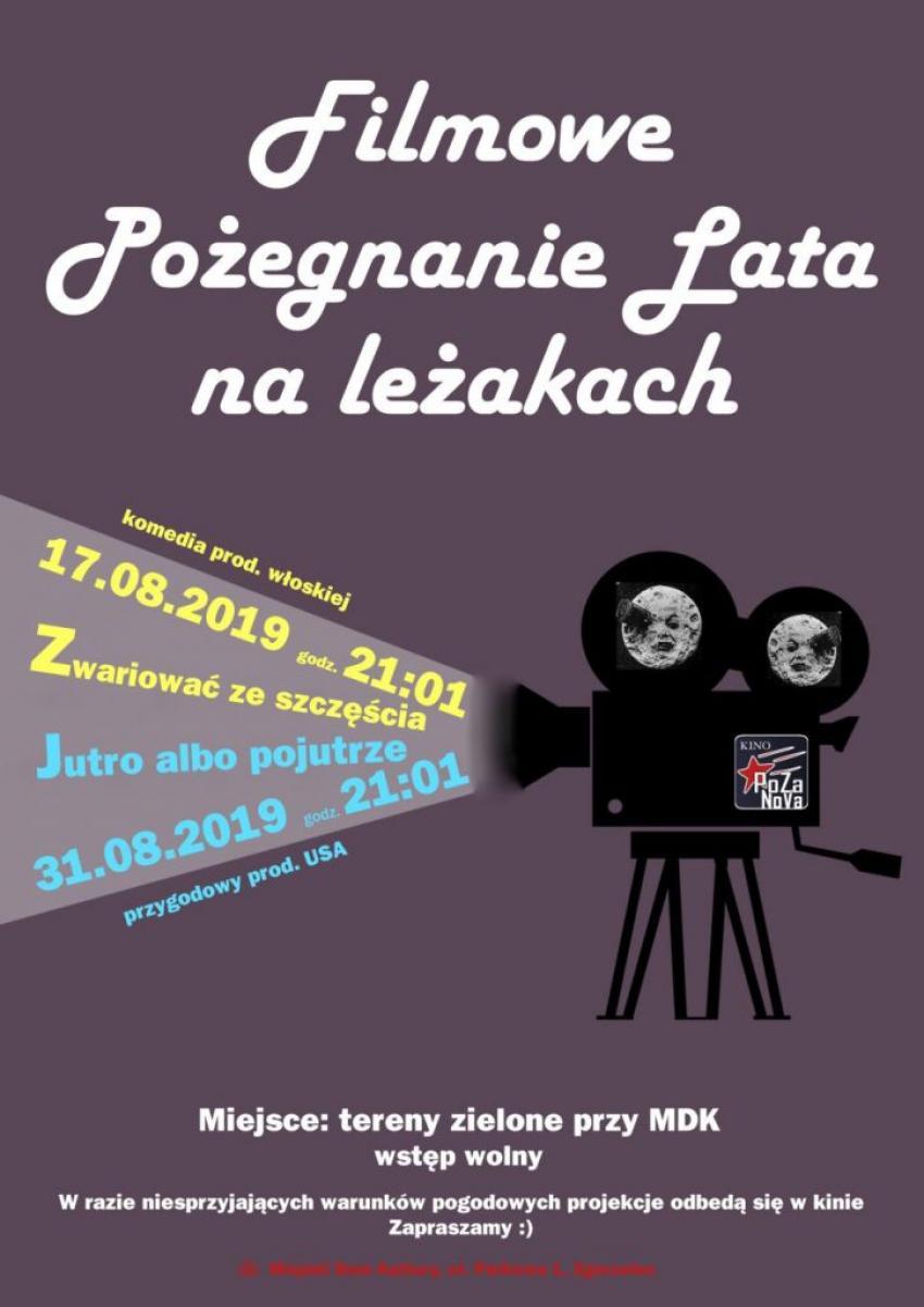Filmowe pożegnanie lata 2019 w Zgorzelcu - repertuar