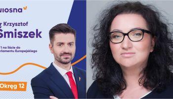 Krzysztof Śmiszek i Marta Lampart
