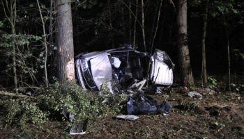 Śmiertelny wypadek na DK30 (fot.: KPP Zgorzelec)