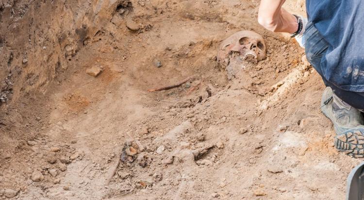 Ekshumacja szczątków niemieckiego żołnierza w Zawidowie (fot. Jerzy Stankiewicz) - zdjęcie nr 25
