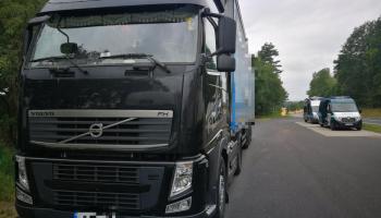 Zatrzymana przez funkcjonariuszy ITD ciężarówka / fot. WITD