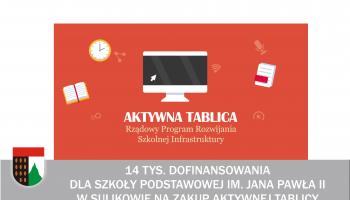 Szkoła Podstawowa im. Jana Pawła II w Sulikowie wzbogaci się o