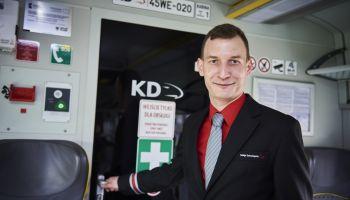 Krzysztof Wardęcki, maszynista Kolei Dolnośląskich / fot. KD