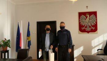 Pan Dariusz Janik i podinsp. Andrzej Barna / fot. KPP Zgorzelec