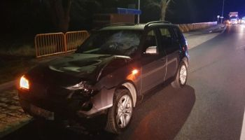 BMW X3 - samochód sprawcy potrącenia w Ręczynie / fot. KPP Zgorzelec