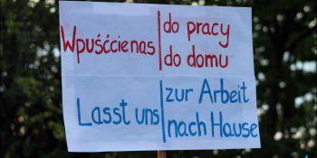 Protesty na polsko-niemieckiej granicy. Pracownicy transgraniczni domagają się otwarcia granic - zdjęcie nr 19