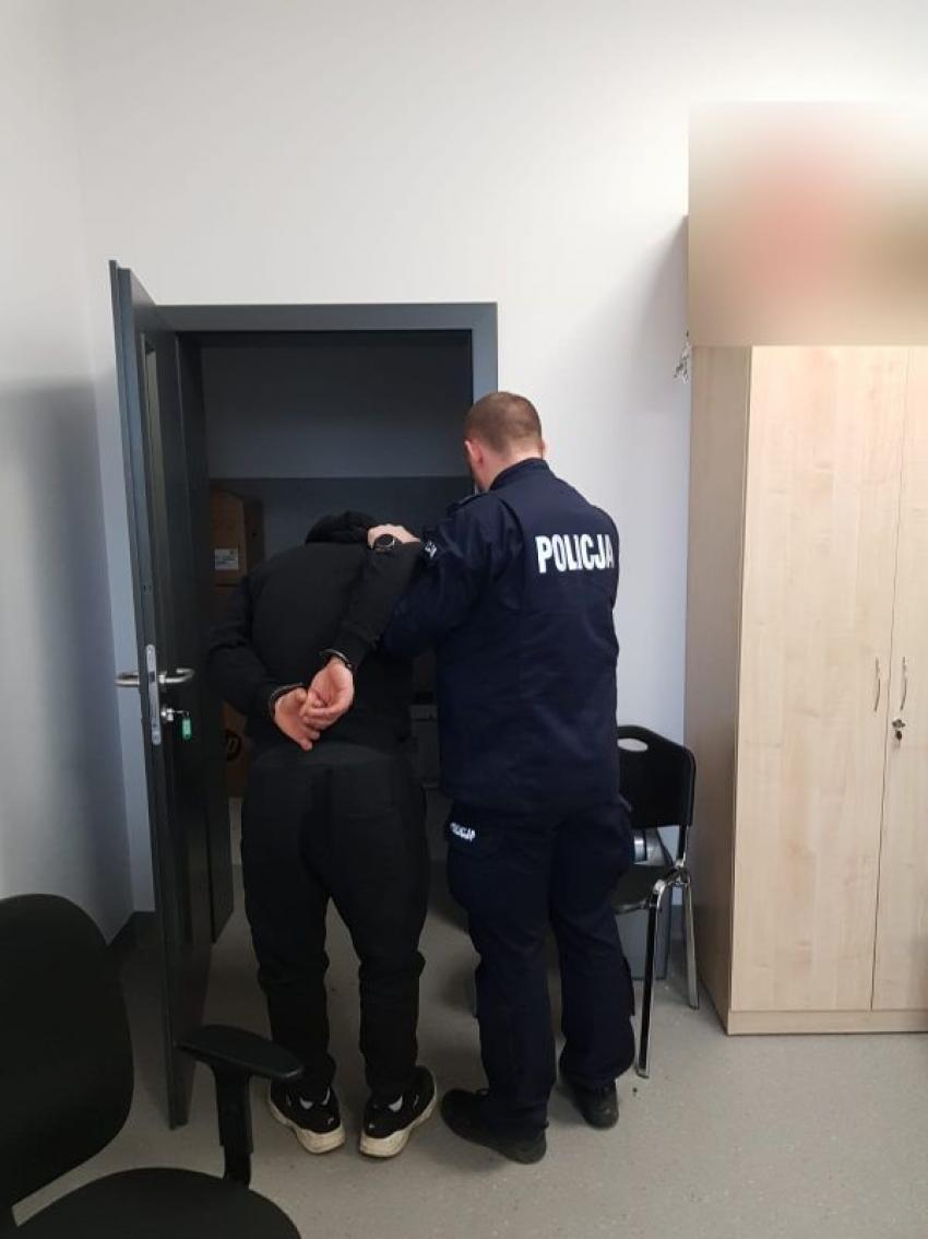 Jeden z zatrzymanych mężczyzn / fot. KPP Zgorzelec