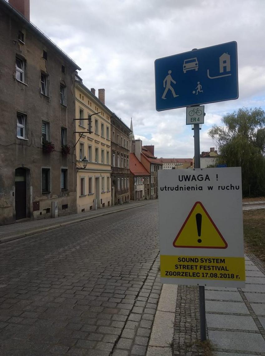 Soundsystem Street Festival Zgorzelec - utrudnienia w ruchu