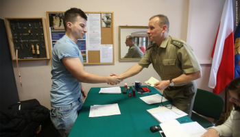 Kwalifikacja wojskowa / fot. WKU Bolesławiec