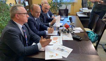 Konferencja prasowa samorządowców w Jeleniej Górze / fot. Urząd Miasta Jelenia Góry