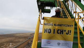 Protest aktywistów Greenpeace Polska na terenie KWB Turów / fot. Greenpeace Polska