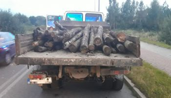 Zatrzymany do kontroli pojazd marki DAF / fot. KPP Zgorzelec